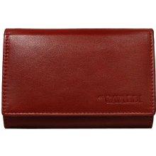 Cavaldi Červená dámska kožená peňaženka 03d6614f825