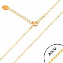 Šperky eshop Retiazka v žltom zlate GG158.01
