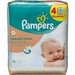 Pampers Natural Clean - vlhčené obrúsky 4 x 64 ks ( 256ks)