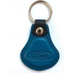 Prívesok na kľúče Exkluzívna kožená FORD - modrá od 5 274368ab43d