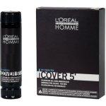 L'Oréal Homme Cover 5 Hair Color farba na vlasy - 3 tmavo hnedá 3 x 50 ml