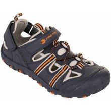ALPINE PRO Chlapčenské trekové sandále Bedel 602GL tmavo šedé