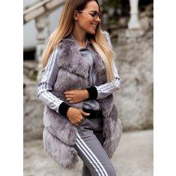 41920c25492b Fashionweek Luxusné chlpatá kožušinová šedá vesta TOP TREND AWI8 ...