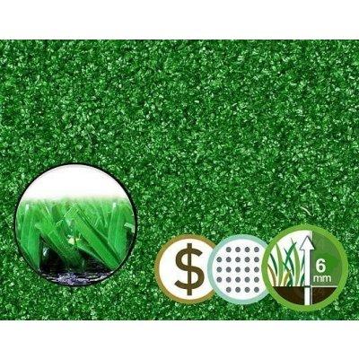 Trávnik umelý (v. 6 mm) tráva STANDARD GREEN š.2 m