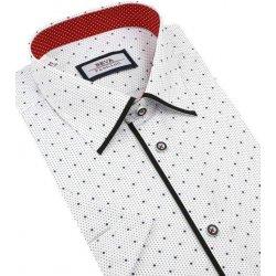 3d0db01cc424 BEVA Fashion Biela SLIM košeľa s bodkami 137 6 KR 2T58 od 29
