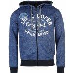Lee Cooper Textile All Over Print Zip Hoodie Dark Blue