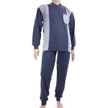 Pyžamo LUĎEK dlouhý rukáv - džínová vzor
