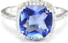 ced109250 Prsteň MEUCCI SS09RB Strieborný prsteň s modrým kameňom a zirkonmi ...