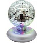 LED zrcadlová koule se světelným stojanem