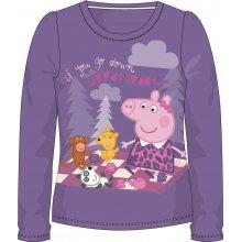 E plus M Dievčenské tričko Peppa Pig - fialové