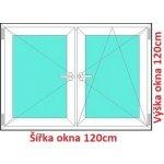 Soft Dvojkrídlové plastové okno 120x120 cm, O+OS