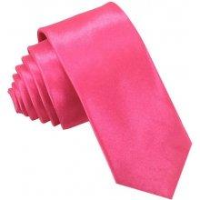 Kravata úzka tmavo ružová