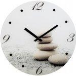 Hama nástenné hodiny Stones, tichý chod, sklenené