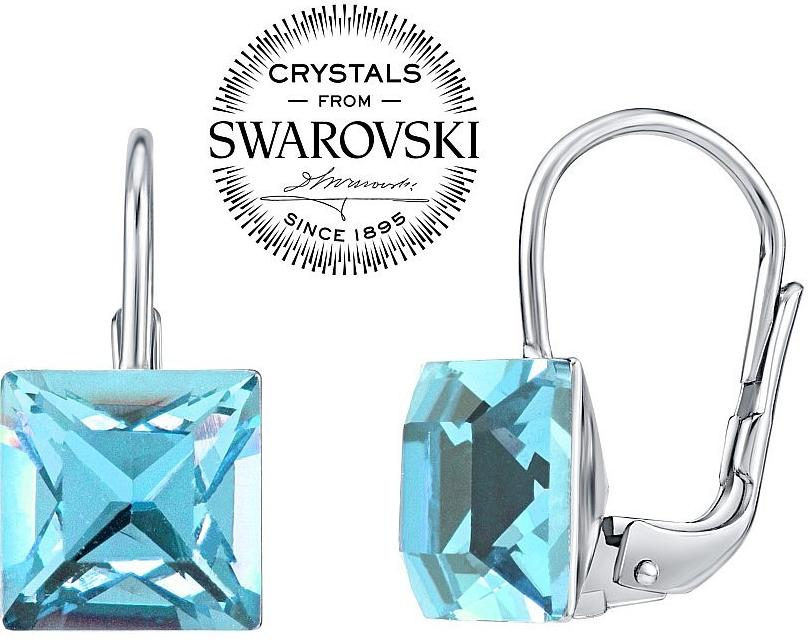 Silvego strieborné náušnice so Swarovski Crystals Aquamarine VSW073E od  21 28609a94896