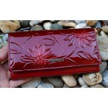 Cavaldi Dámska červená peňaženka lakovaná červená s kvetmi 4ce88c46adb