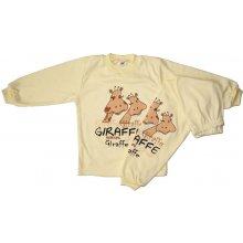 BABY´S WEAR Detské pyžamo GIRAFFE žlté