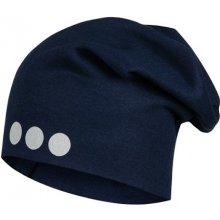 Lamama detská čiapka s reflexnou potlačou tmavo modré