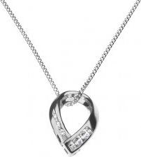 Šperky eshop Strieborná retiazka a prívesok spojená podkova so zirkónmi  X46.6 4d324979d1e