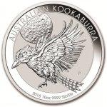 Kookaburra Stříbrná mince 10 AUD Australian Ledňáček 10 Oz 2018