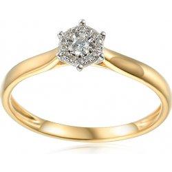 4e03f7216 iZlato Design Zlatý zásnubný prsteň s diamantmi 0.040 ct Lonna IZBR590