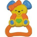 Baby Mix Chrastítko barevný králík Žlutá