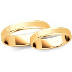 3e65d7b16 iZlato Forever Zlaté svadobné obrúčky s fázovaným profilom, šírka 3 mm  IZOB60 3