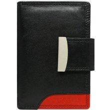 ec26a6da1d Cavaldi kožené peňaženky veľké čierne s červenou RD-04 Red