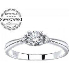 Silvego Strieborný prsteň Melayna so Swarovski® Crystals JJJR1189 b0dc2813477