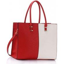 kabelka Double color tote červená biela 21e231bd4d9