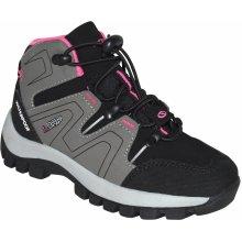 LOAP Dievčenské outdoorové topánky Tarby šedo-čierne