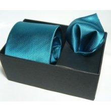 Neues Kravata s vreckovkou jednofarebné