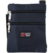 d9ccfdec18713 Sanchez Casual pánska taška s nylonovým popruhom tmavomodrá