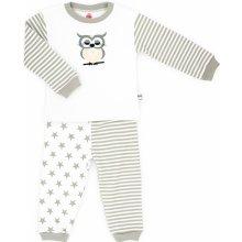Makoma Dievčenské pyžamo Sova bielo-hnedé