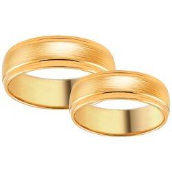 495385854 iZlato Design Zlaté svadobné obrúčky s matovaním SKOB009 alternatívy ...