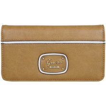 Guess Elegantní peňaženka Briza Slim Clutch Brown