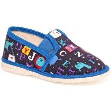 papuče modrá abeceda Detská