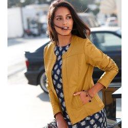 72d1df161 Blancheporte bunda v koženom vzhľade horčicová od 47,99 € - Heureka.sk