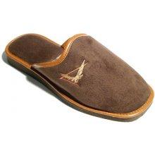 2319f081d5422 Pánske papuče Natural Style NS057 Hnedá I
