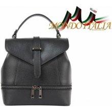 dámska kožená kabelka batoh 508 čierna c8e4e7e0897
