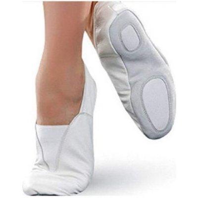 Gymnastické cvičky baletky piškóty biele