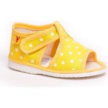 610c3ec8cb6b RAK Detské papuče 10014 Žltá bodka
