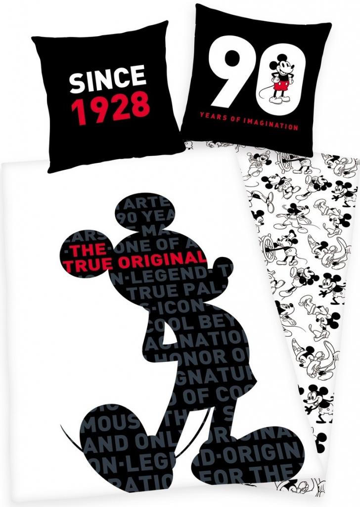 5f00658dfc Posteľná bielizeň Herding Obliečky Mickey 90 Years bavlna 140x200 ...