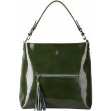 9ec19d778 Wojewodzic dámske kožené pracovné kabelky cez rameno zelené 31527
