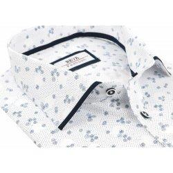 ed3fcc168580 Športovo elegantná biela SLIM košeľa BEVA kr. rukáv od 29