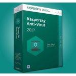 Kaspersky Anti-Virus 2017 1 lic. 12 mes.