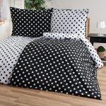 4Home bavlna obliečky Čierná bodka Jerry Fabrics 140x200 70x90