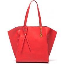 Mangotti Elegantná kožená business kabelka 388 Rosso