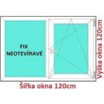 Soft Dvojkrídlové plastové okno 120x120 cm, FIX+OS
