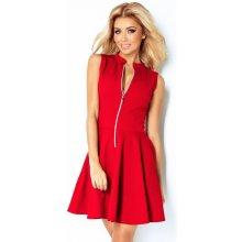 380e3d5062c Červené šaty so zipsom a vreckami 123-11