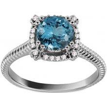 bc30326ea iZlato Forever Prsteň z bieleho zlata s topásom a diamantmi 0.100 ct Ryann  KU886A